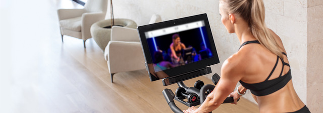 Experience Online Personal Training With iFit On The S22i Studio Cycle