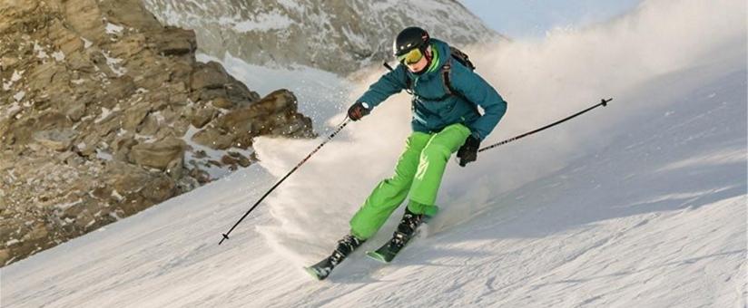 skieur sur-piste